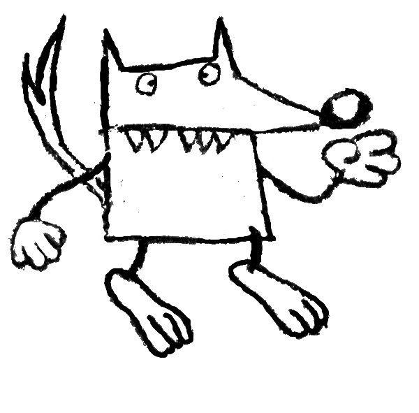 Le loup ecole maternelle des carri res marquise - Coloriage du loup ...